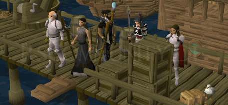 Am Dock von Port Sarim mit Sir Tiffy
