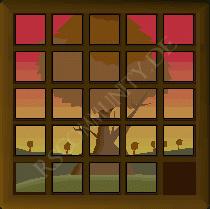 Baum Schiebepuzzle bei Schatzsuchen